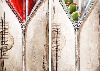 Martini cerise et olive
