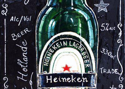 Tableau bouteille de bière Heineken
