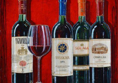 Tableau vins rouge italien toscan