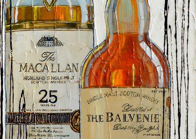Deux bouteilles de whisky - Macallan - The Balvenie