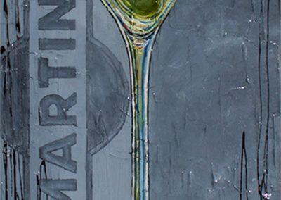 Verre de drink martini avec olive