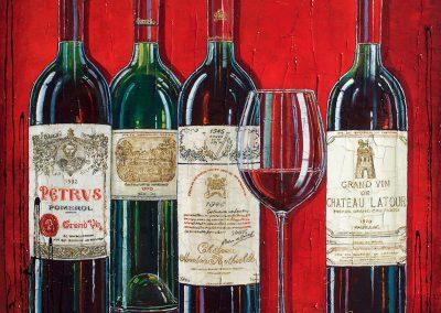 Tableau vins rouge français de prestige