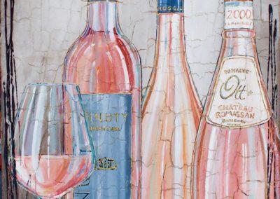 Grandes bouteilles de rosés de la Côte d'Azur