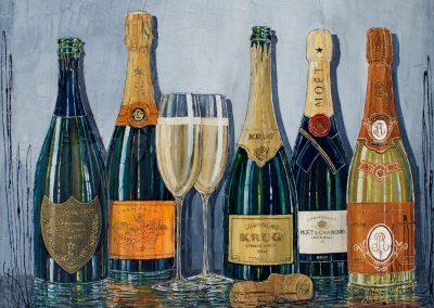 Grandes cuvées de champagne luxueux
