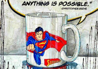 Mug à café avec dessin de Superman