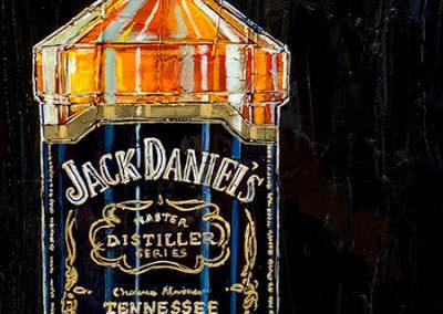 Bouteille de Jack Daniel's avec glass on the rocks