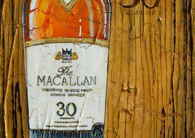 Bouteille de whisky Macallan 30 ans d'âge