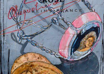 Bouchon de champagne et sa cage - Veuve Clicquot Rosé