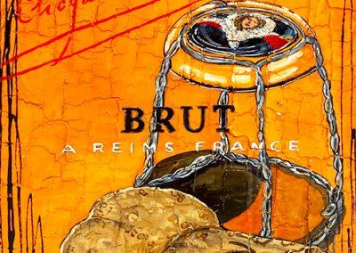 Bouchon de champagne Veuve Clicquot avec sa capsule