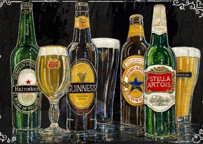 Plusieurs bouteilles de bières de différents pays