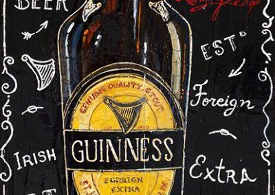 Bouteille de Guinness, bière irlandaise